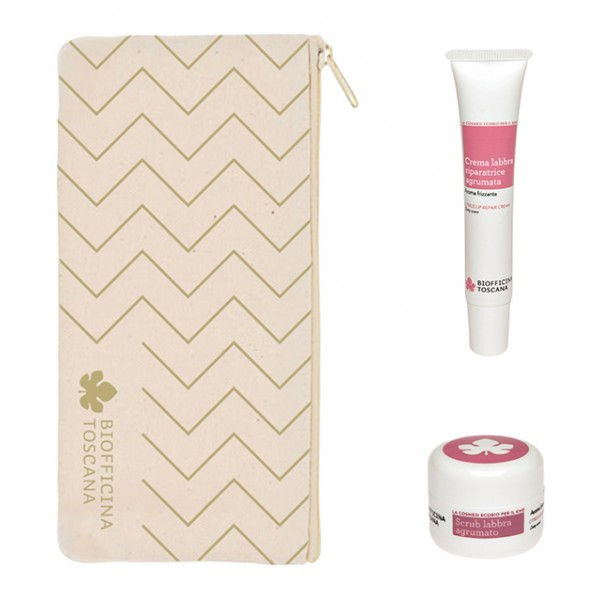 Biofficina Toscana - Citrus Lip Set - Gift Line - Organic Vegan Cosmetics