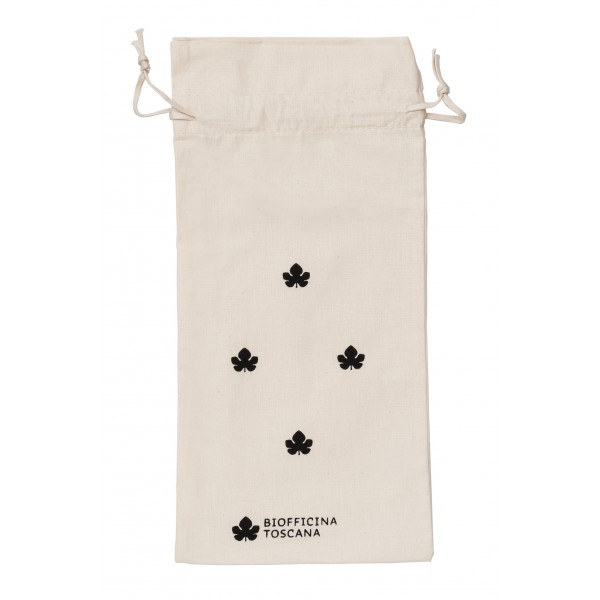 Biofficina Toscana - Organic Cotton Pouch - Small Black - Accessories Line - Organic Vegan Cosmetics
