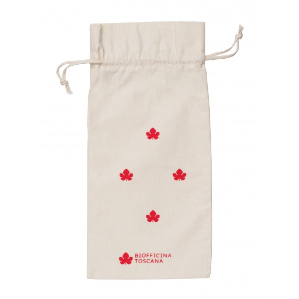 Biofficina Toscana - Organic Cotton Pouch - Small Red - Accessories Line - Organic Vegan Cosmetics