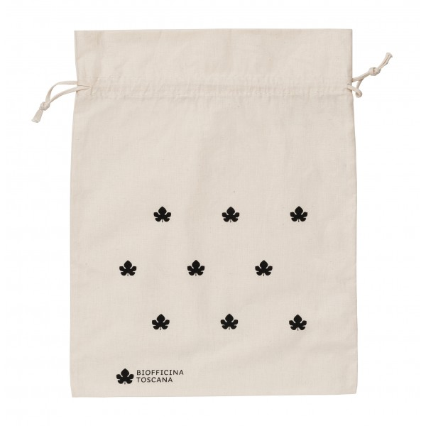 Biofficina Toscana - Organic Cotton Pouch - Big Black - Accessories Line - Organic Vegan Cosmetics