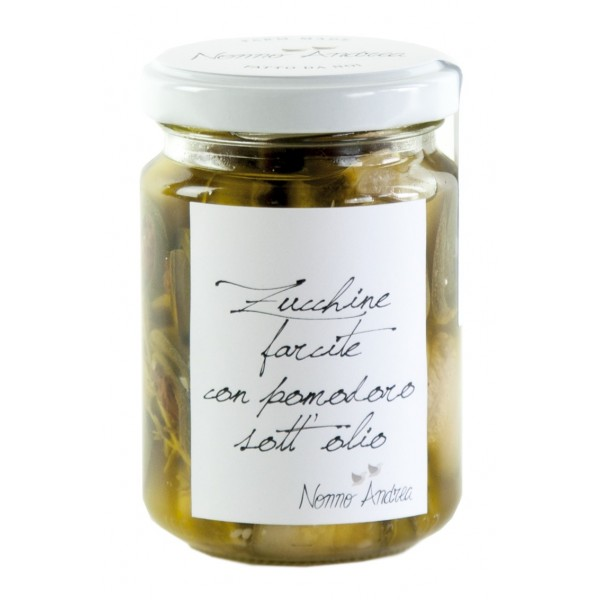 Nonno Andrea - Zucchine Farcite con Pomodoro Sott'Olio - Sottoli e Agrodolci Bio - 140 g