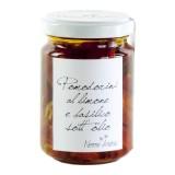 Nonno Andrea - Pomodorini al Limone e Basilico Sott'Olio - Sottoli e Agrodolci Bio - 140 g