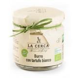 La Cerca - Burro con Tartufo Bianco Biologico - Condimenti con Tartufo - Eccellenze al Tartufo - Bio - 80 g
