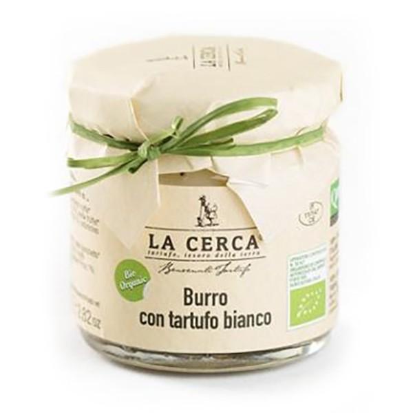 La Cerca - Burro con Tartufo Bianco Biologico - Condimenti con Tartufo - Eccellenze al Tartufo - Bio - 170 g