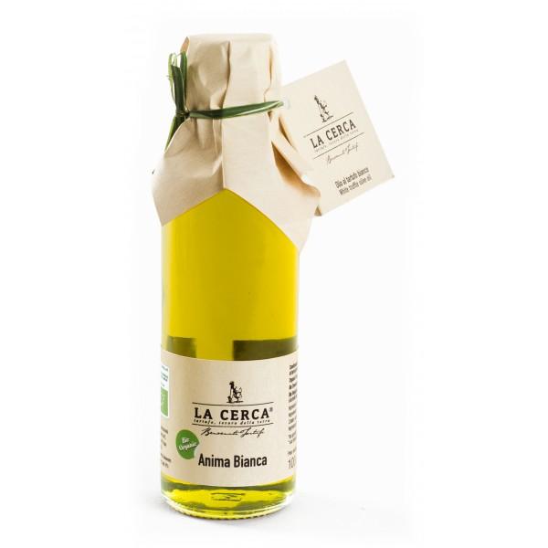 La Cerca - Anima Bianca - Organic White Truffle Oil - Truffle Condiments - Truffle Excellence - Organic Vegan - 100 ml