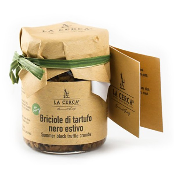 La Cerca - Organic Black Summer Truffle Crumbs - Specialities with Pure Truffle - Truffle Excellence - Organic Vegan - 50 g