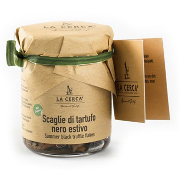 La Cerca - Organic Black Summer Truffle Flakes - Specialities with Pure Truffle - Truffle Excellence - Organic Vegan - 50 g