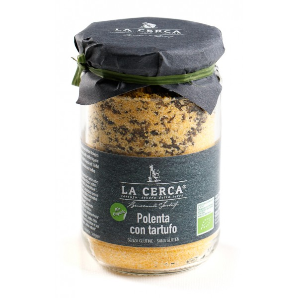 La Cerca - Polenta with Truffle - Specialties with Truffle - Truffle Excellence - Organic Vegan - 200 g
