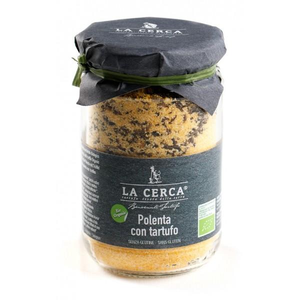 La Cerca - Polenta con Tartufo Biologico - Specialità con Tartufo - Eccellenze al Tartufo - Bio Vegan - 200 g