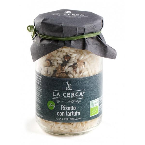 La Cerca - Risotto con Tartufo Biologico - Specialità con Tartufo - Eccellenze al Tartufo - Bio Vegan - 200 g