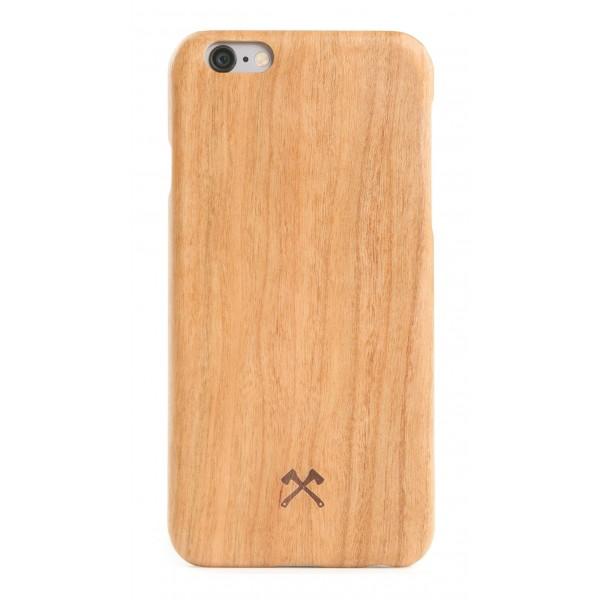 Woodcessories - Cover in Legno di Ciliegio e Kevlar - iPhone 8 / 7 - Cover in Legno - Eco Case - Ultra Slim - Collezione Kevlar