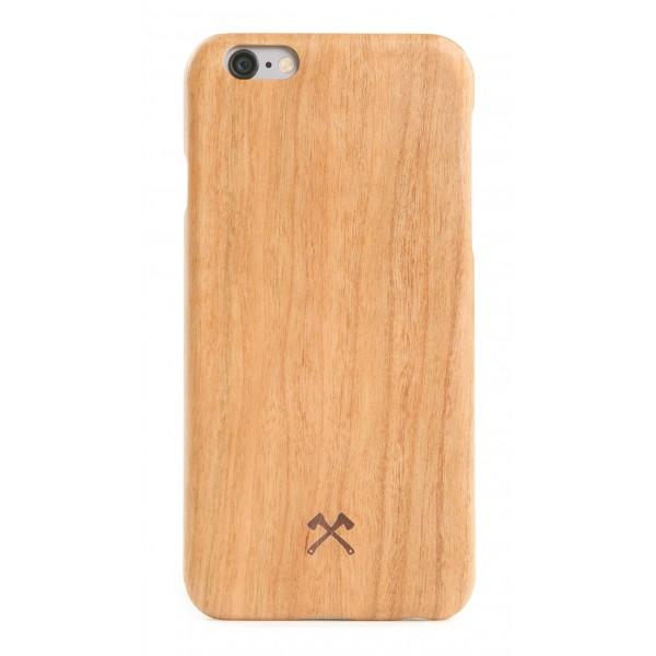 Woodcessories - Cover in Legno di Ciliegio e Kevlar - iPhone 8 Plus / 7 Plus - Cover in Legno - Eco Case - Collezione Kevlar