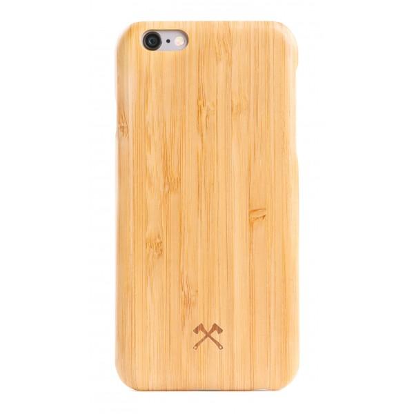 Woodcessories - Cover in Legno di Bamboo e Kevlar - iPhone 8 Plus / 7 Plus - Cover in Legno - Eco Case - Collezione Kevlar