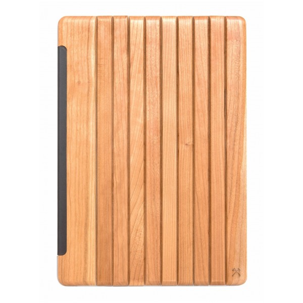 Woodcessories - Cherry / Leather / Transclucent Hardcover - iPad 2017 - Flip Case - Eco Guard Metal & Wood
