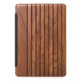 Woodcessories - Noce / Pelle / Copertina Trasperente Rigida - iPad Pro 10.5 (2017) - Custodia Flip - Eco Guard Metallo e Legno
