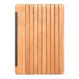 Woodcessories - Ciliegio / Pelle / Copertina Trasperente Rigida - iPad Pro 12.9 2015 - Custodia Flip - Eco Guard Metallo e Legno