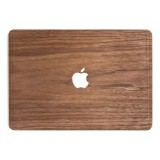 Woodcessories - Noce / MacBook Skin Cover - MacBook 13 Pro - Eco Skin - Apple Logo - Cover MacBook in Legno