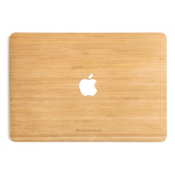 Woodcessories - Bamboo / MacBook Skin Cover - MacBook 13 Pro Touchbar - Eco Skin - Apple Logo - Cover MacBook in Legno