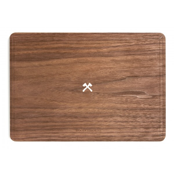 Woodcessories - Noce / MacBook Skin Cover - MacBook 12 - Eco Skin - Logo Ascia - Cover MacBook in Legno