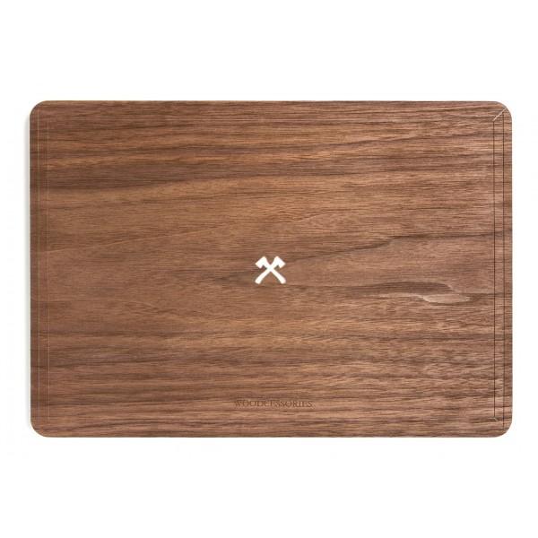 Woodcessories - Walnut / MacBook Skin Cover - MacBook 13 Air - Eco Skin - Axe Logo - Wooden MacBook Cover