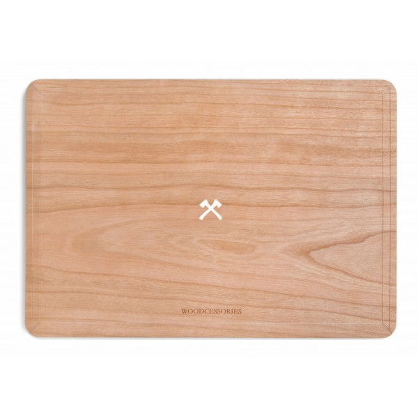 Woodcessories - Ciliegio / MacBook Skin Cover - MacBook 13 Air - Eco Skin - Logo Ascia - Cover MacBook in Legno