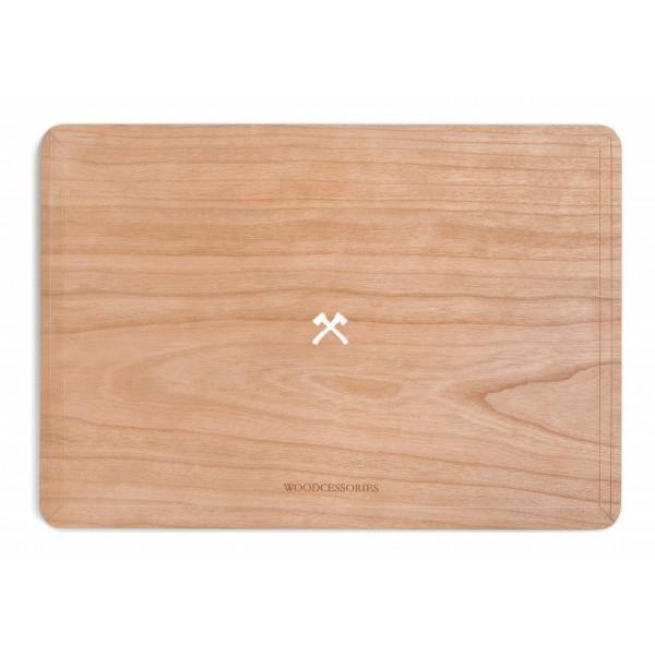 Woodcessories - Ciliegio / MacBook Skin Cover - MacBook 13 Pro Retina - Eco Skin - Logo Ascia - Cover MacBook in Legno