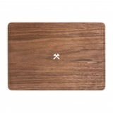 Woodcessories - Walnut / MacBook Skin Cover - MacBook 15 Pro Touchbar - Eco Skin - Axe Logo - Wooden MacBook Cover