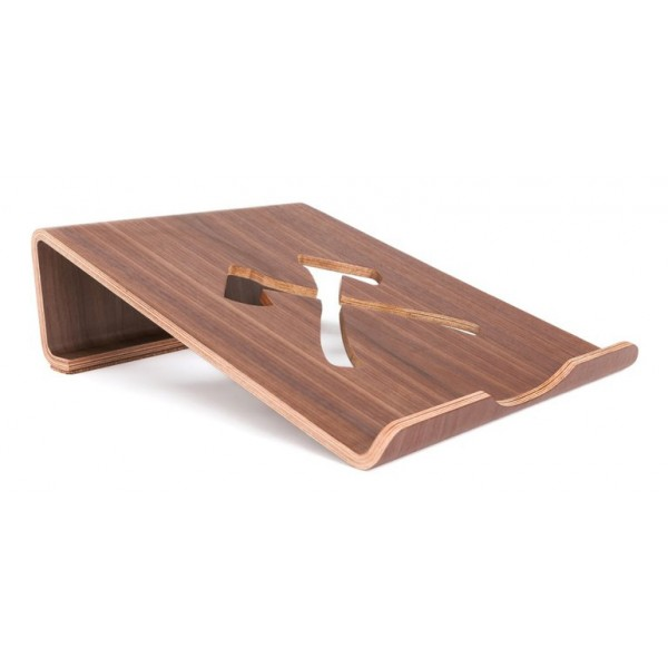 Woodcessories - Walnut / MacBook Stand - MacBook - Eco Lift Mini - Wooden MacBook Support
