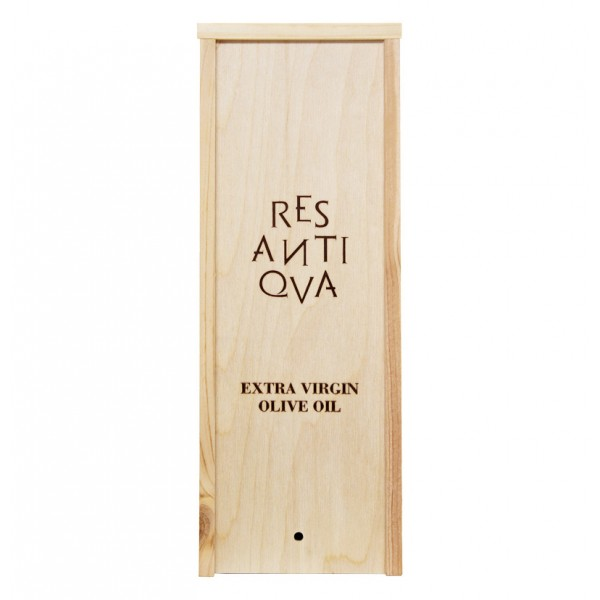 Res Antiqva - Wooden Box in Maritime Pine for Organic Italian Extra Virgin Olive Oil