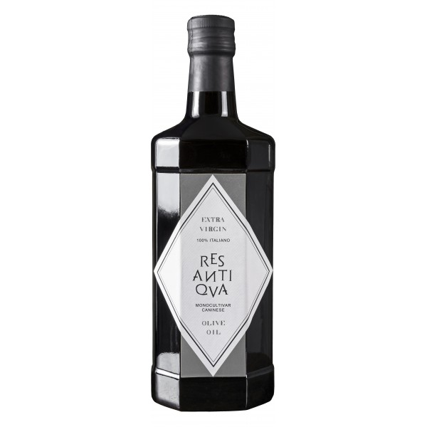 Res Antiqva - Bottle - Monocultivar Caninese - Organic Italian Extra Virgin Olive Oil - 500 ml