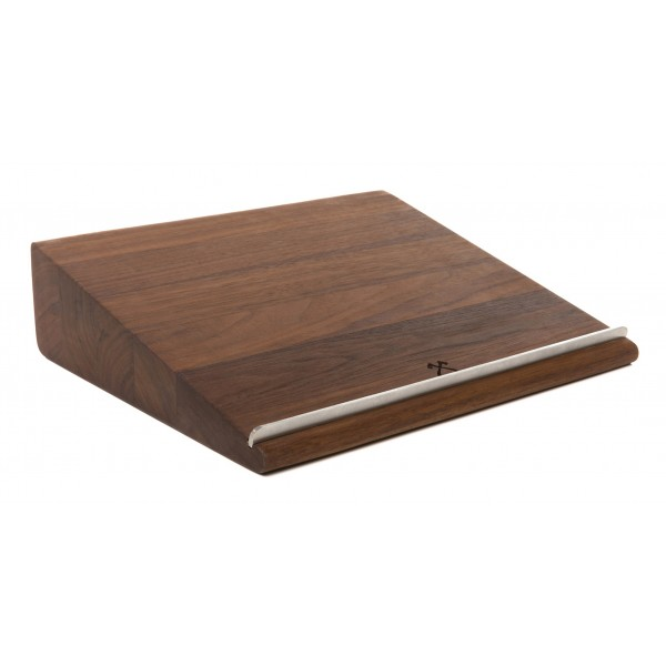 Woodcessories - Noce / MacBook Lift Ergonomico in Legno - MacBook - Eco Stand - Supporto MacBook in Legno