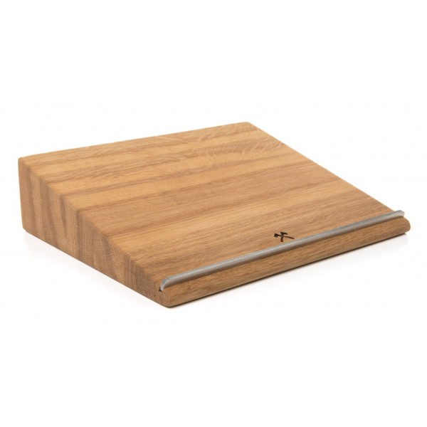 Woodcessories - Quercia / MacBook Lift Ergonomico in Legno - MacBook - Eco Stand - Supporto MacBook in Legno