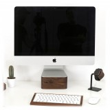 Woodcessories - Noce / Supporto iMac Premium in Legno - MacBook 21,5 - Eco Foot - Supporto MacBook in Legno
