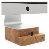 Woodcessories - Quercia / Supporto iMac Premium in Legno - MacBook 21,5 + iPhone - Eco Foot - Supporto MacBook in Legno