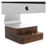 Woodcessories - Noce / Supporto iMac Premium in Legno - MacBook 21,5 + iPhone - Eco Foot - Supporto MacBook in Legno