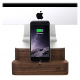 Woodcessories - Noce / Supporto iMac Premium in Legno - MacBook 21,5 + iPhone - Eco Foot - Supporto MacBook in Legno