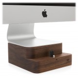 Woodcessories - Noce / Supporto iMac Premium in Legno - MacBook 27 + iPhone - Eco Foot - Supporto MacBook in Legno