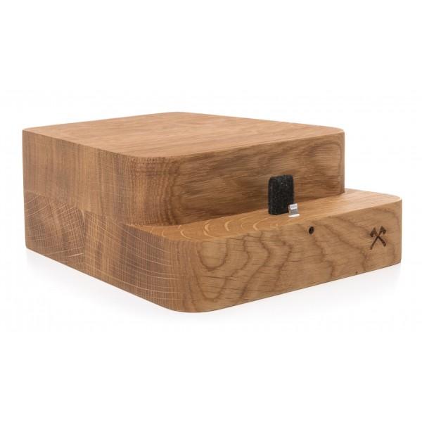 Woodcessories - Quercia / Supporto iMac Premium in Legno - MacBook 27 + iPhone - Eco Foot - Supporto MacBook in Legno