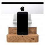 Woodcessories - Quercia / Supporto iMac Premium in Legno - MacBook 27 + iPhone - Eco Foot - Supporto MacBook in Legno
