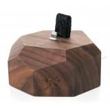 Woodcessories - Noce / Dock per iPhone 6, 7, 8, X in Legno - Dock per iPhone - Eco Dock - Supporto per iPhone in Legno