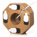 Woodcessories - Quercia / Dock per iPhone 6, 7, 8, X in Legno - Dock per iPhone - Eco Dock - Supporto per iPhone in Legno