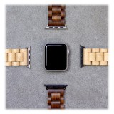 Woodcessories - Walnut / Silver - Wooden Apple Watch Band 38 mm - Eco Strap - Stainless Steel - Wooden Apple Watch Strap