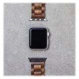 Woodcessories - Noce / Nero Cinturino in Legno Apple Watch 38 mm - Eco Strap - Acciaio Inossidabile - Cinturino in Legno
