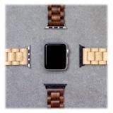 Woodcessories - Walnut / Black - Wooden Apple Watch Band 38 mm - Eco Strap - Stainless Steel - Wooden Apple Watch Strap