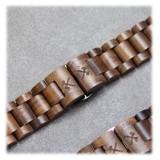 Woodcessories - Noce / Nero Cinturino in Legno Apple Watch 42 mm - Eco Strap - Acciaio Inossidabile - Cinturino in Legno