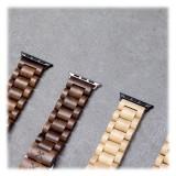 Woodcessories - Acero / Argento Cinturino in Legno Apple Watch 42 mm - Eco Strap - Acciaio Inossidabile - Cinturino in Legno