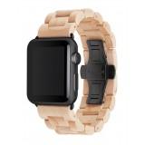 Woodcessories - Acero / Nero Cinturino in Legno Apple Watch 42 mm - Eco Strap - Acciaio Inossidabile - Cinturino in Legno