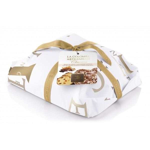 Vincente Delicacies - Colomba Classica - Mandorle, Uvetta e Canditi d'Arancia - Classique - Artigianale Incartata a Mano