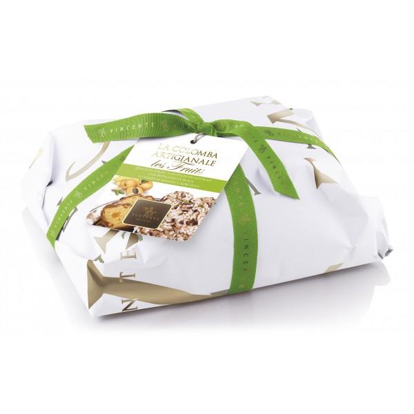 Vincente Delicacies - Colomba Les Fruits - Ananas, Albicocca e Pistacchio di Sicilia - Classique - Artigianale Incartata a Mano