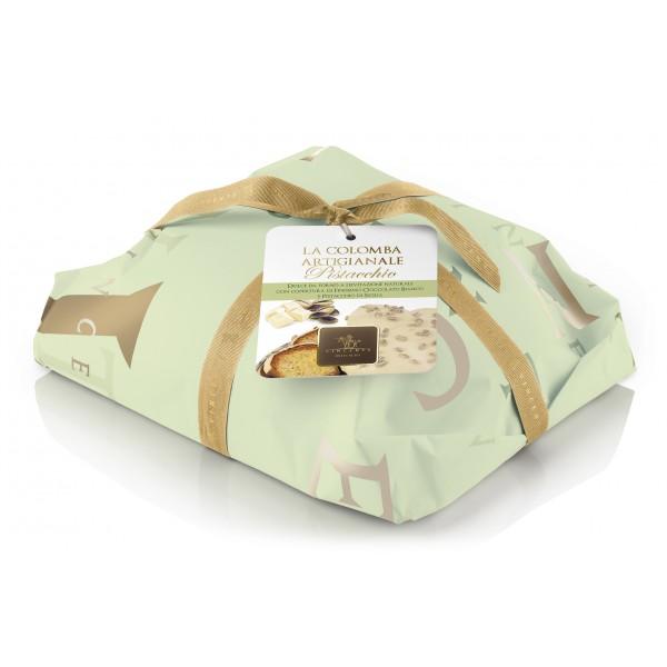 Vincente Delicacies - Colomba Artigianale - Pandorata al Cioccolato Bianco e Pistacchio Sicilia - Classique - Incartata a Mano